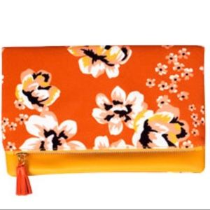 Rachel Pally Reversible Clutch in Orange & Yellow